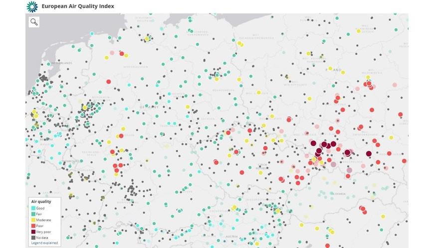 Качеството на атмосферния въздух в Европа